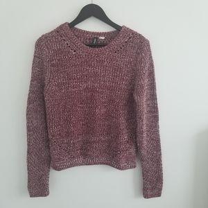 H&M - Burgundy/White Knit Sweater